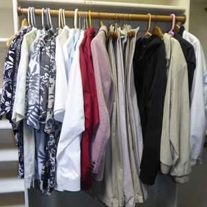 Lot # 276 - Men's Jackets, Slacks & Collared Shirts