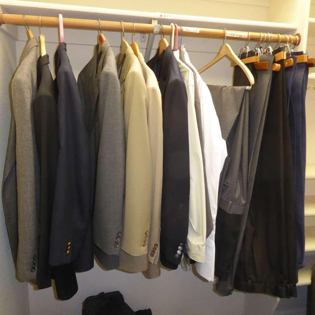 Lot # 277 - Men's Suit Jackets, Slacks & Dress Shirts   (main image)