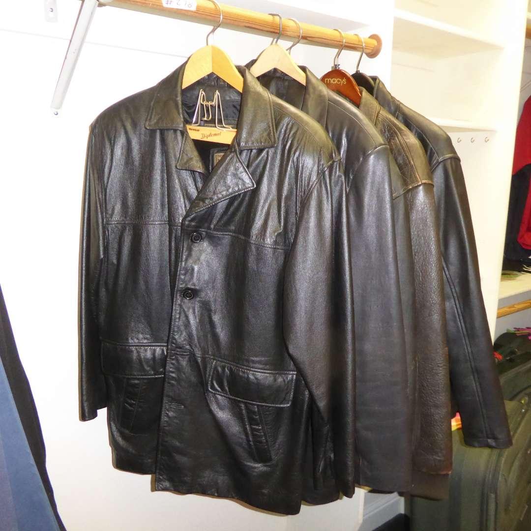 Lot # 278 - Men's Leather Jackets (Adler, Alfani & Arizona)  (main image)