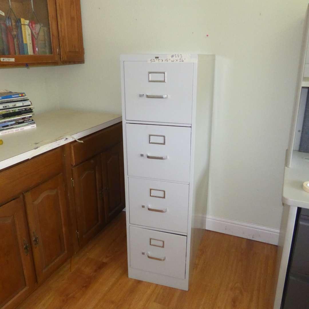 """Lot # 283 - Four Drawer """"HON"""" Metal Cabinet  (main image)"""
