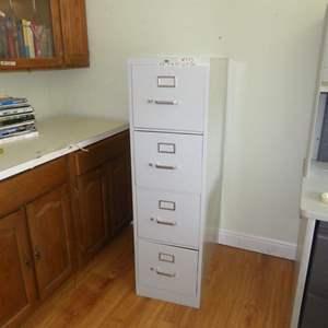 "Lot # 283 - Four Drawer ""HON"" Metal Cabinet"