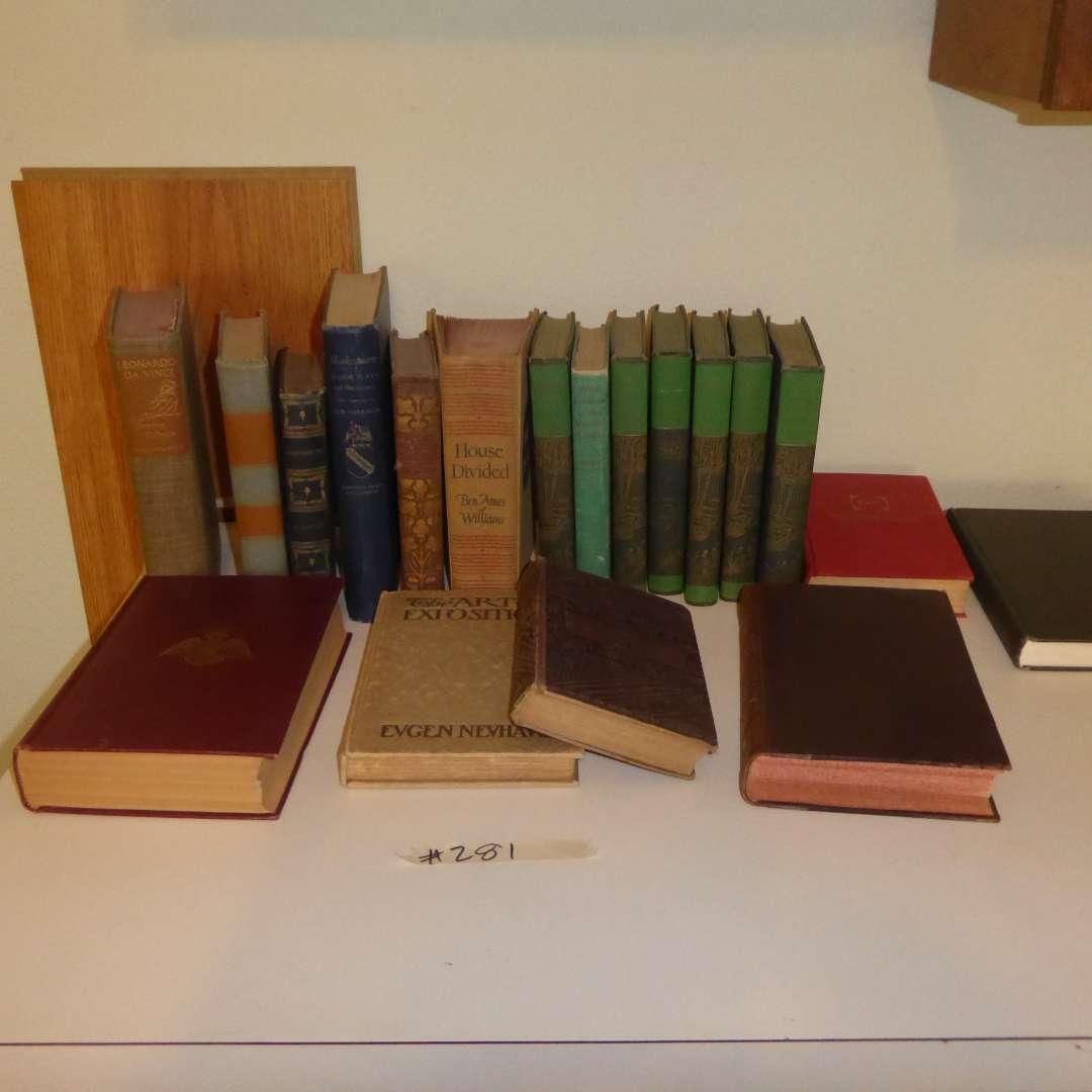Lot # 281 - Vintage & Antique Book Lot  (main image)