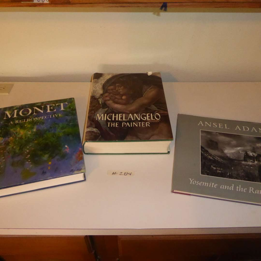 Lot # 284 - Three Table Books (Michelangelo, Ansel Adams & Monet)  (main image)