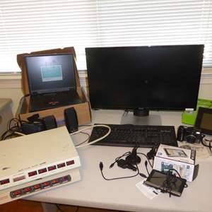 Lot # 285 - Vintage IBM Think Pad, Insigna Picture Frame, Garmin & Dell Monitor