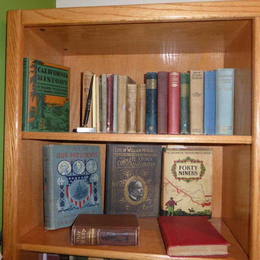 Lot # 288 - Vintage & Antique Book Lot (Fiction & History Books)  (main image)