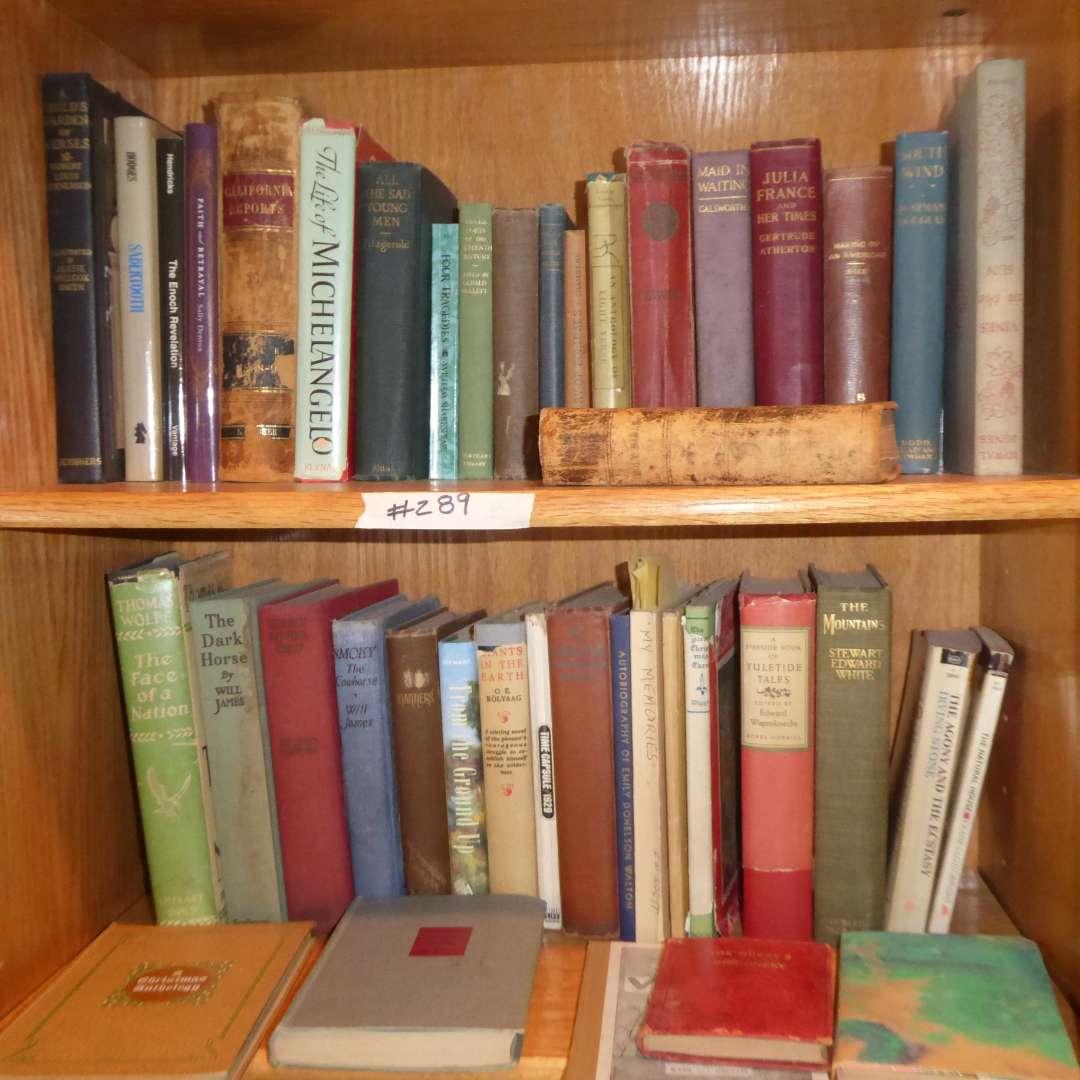 Lot # 289 - Vintage & Antique Book Lot (Poetry, History & Fiction)  (main image)