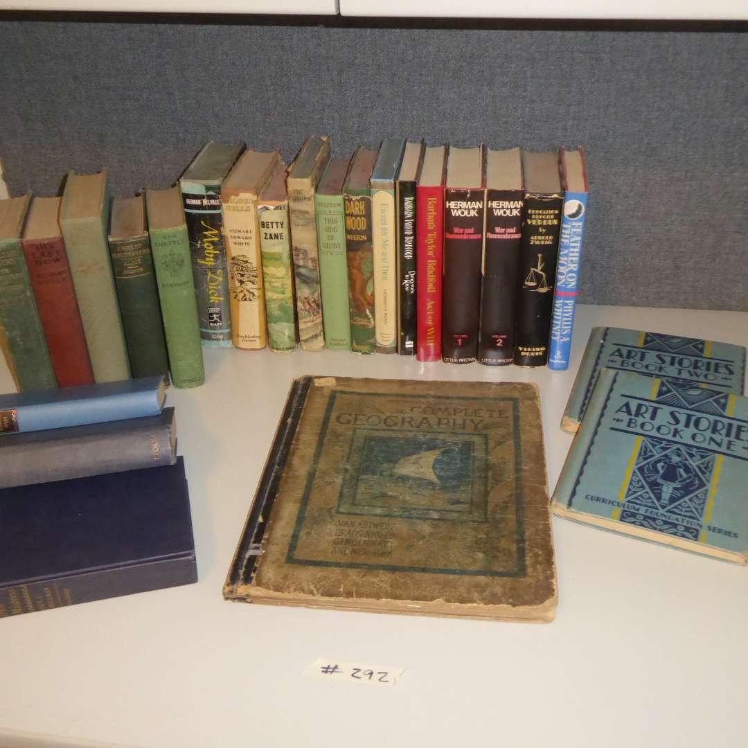 Lot # 292 - Vintage & Antique Book Lot  (main image)