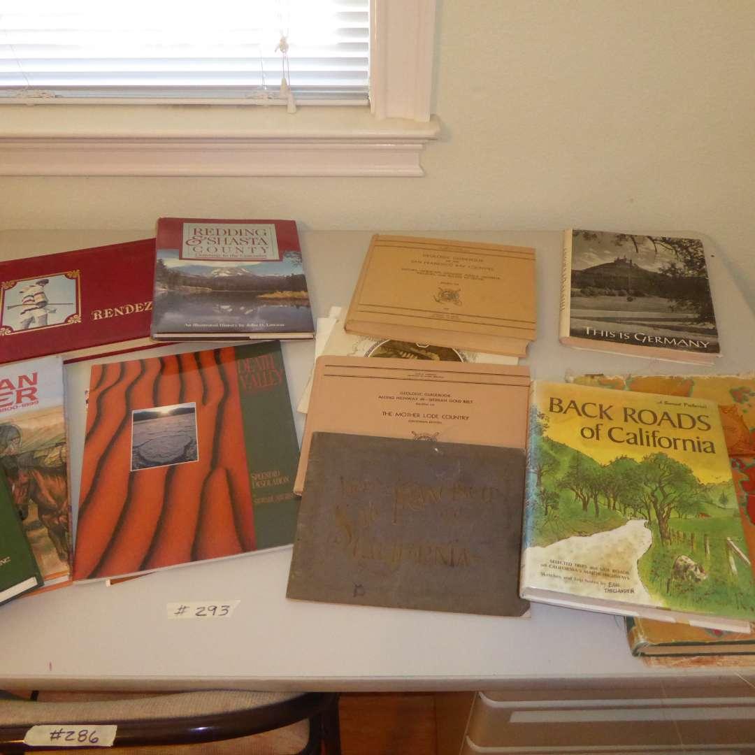 Lot # 293 - Book Lot - Eureka, Shasta County, San Francisco (Travel, History, Geology) (main image)