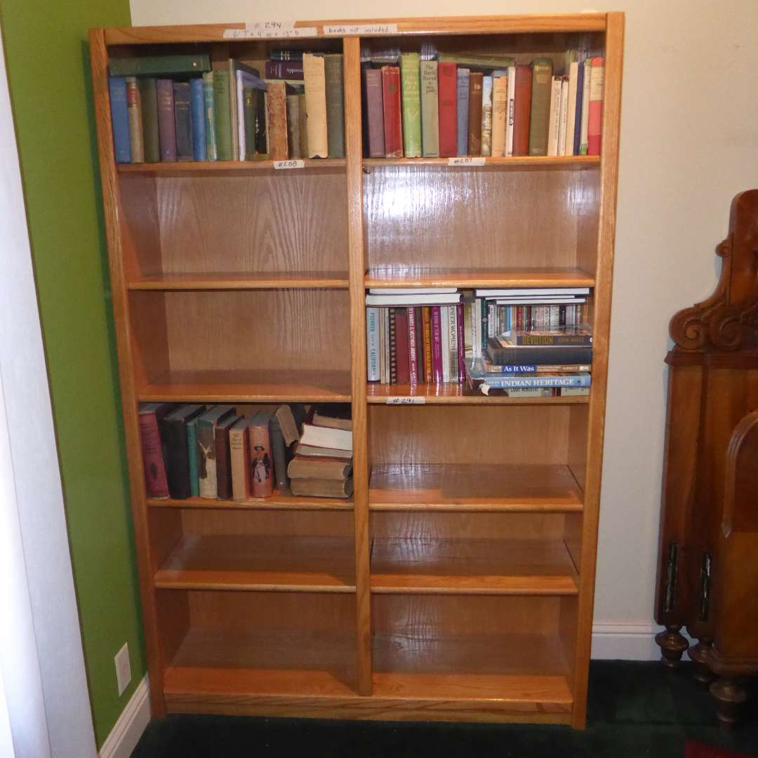 Lot # 294 - Very Nice Wooden Book Shelf (Books Sold Separately)  (main image)