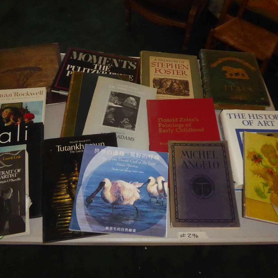 Lot # 296 - Lot Of Books - Art, History, Photography & Etching (Dali, Tutankhamun, Michel Angelo) (main image)