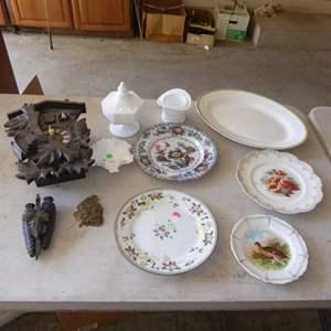 Lot # 553  - Cuckoo Clock & Vintage China