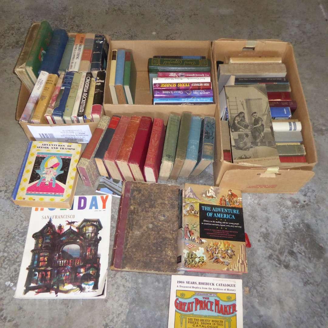 Lot # 556  - Miscellaneous Book Lot (Modern, Vintage Antique) (main image)