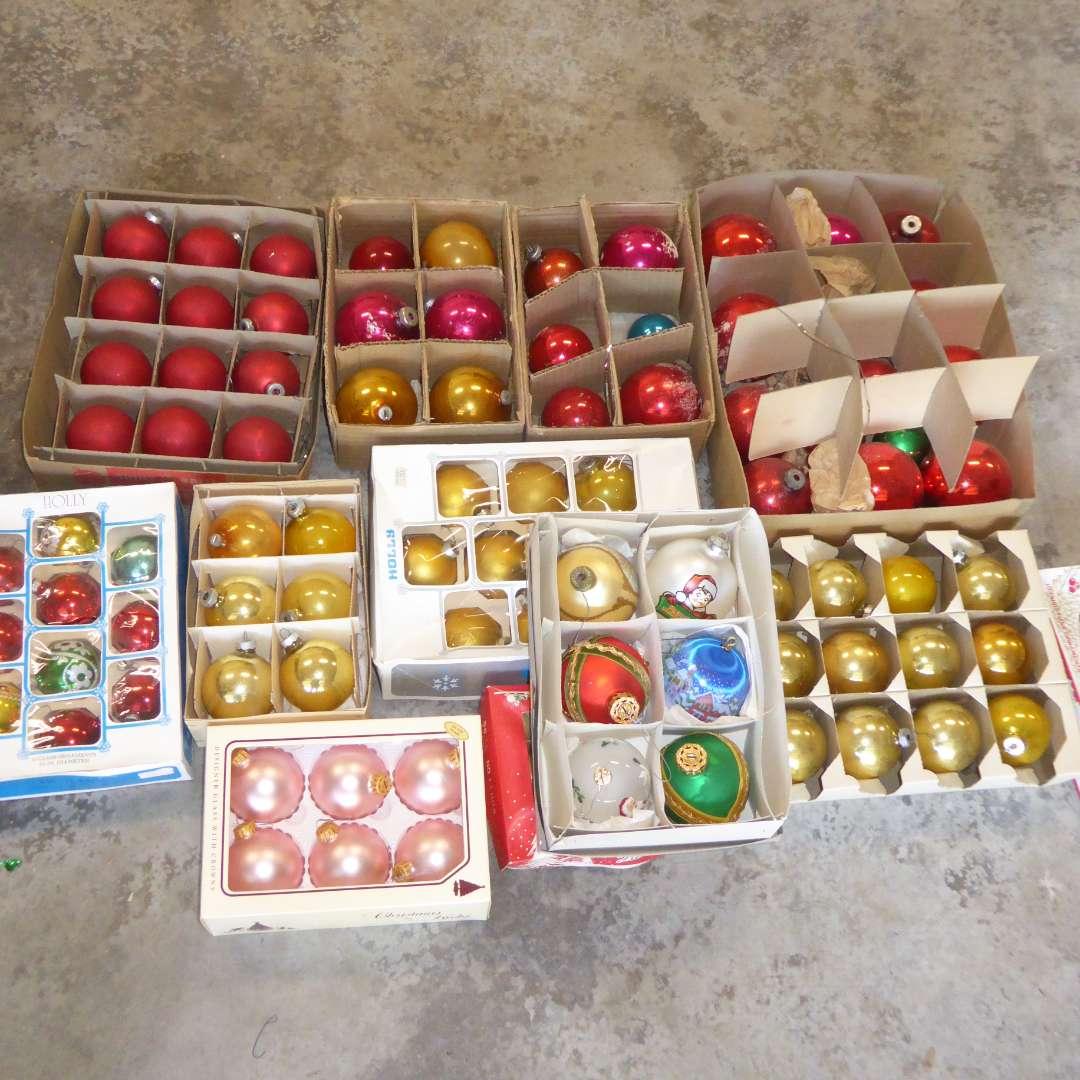 Lot # 558  - Glass Christmas Tree Ornaments  (main image)