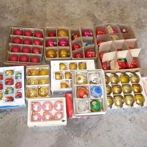 Lot # 558  - Glass Christmas Tree Ornaments