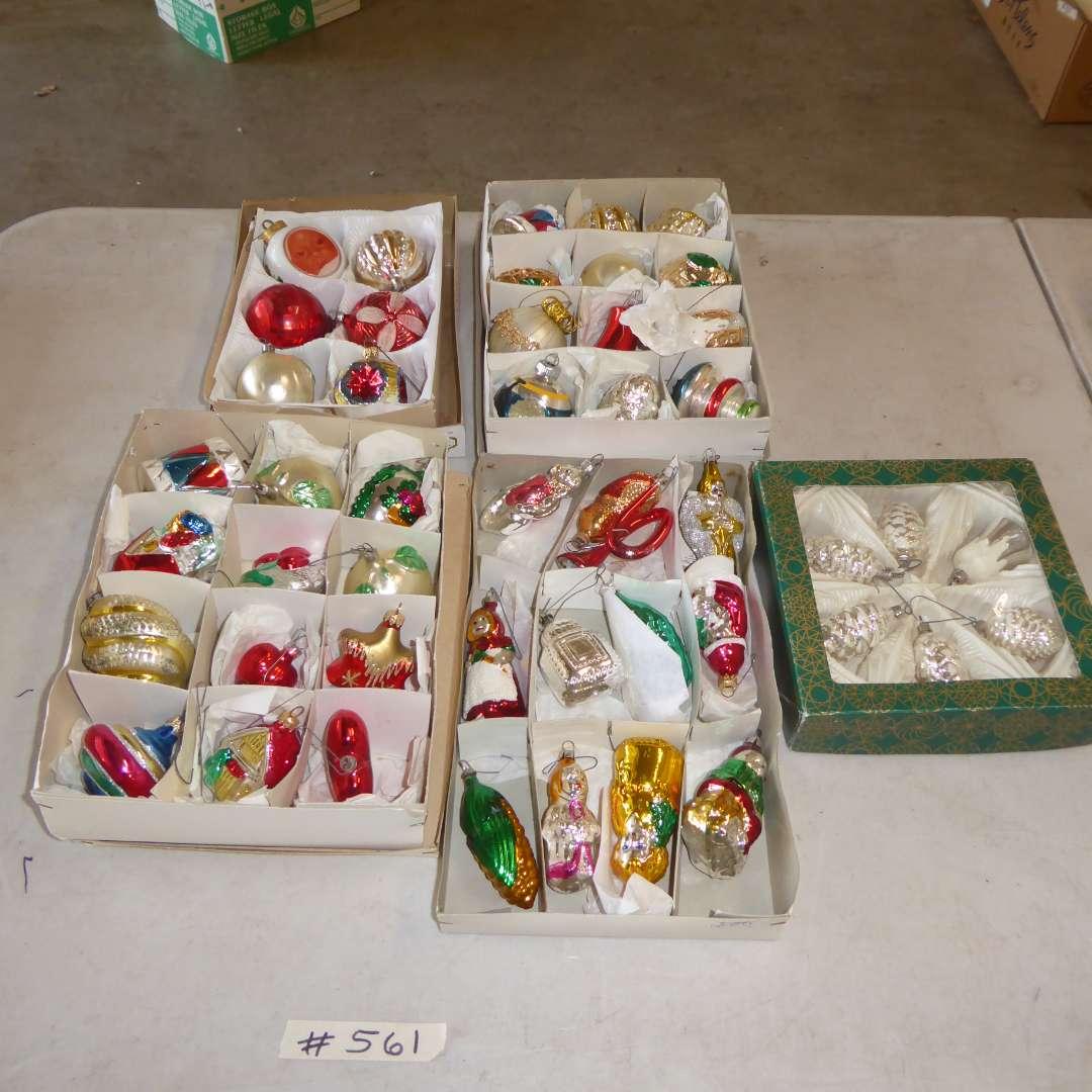 Lot # 561  - Vintage Christmas Ornaments