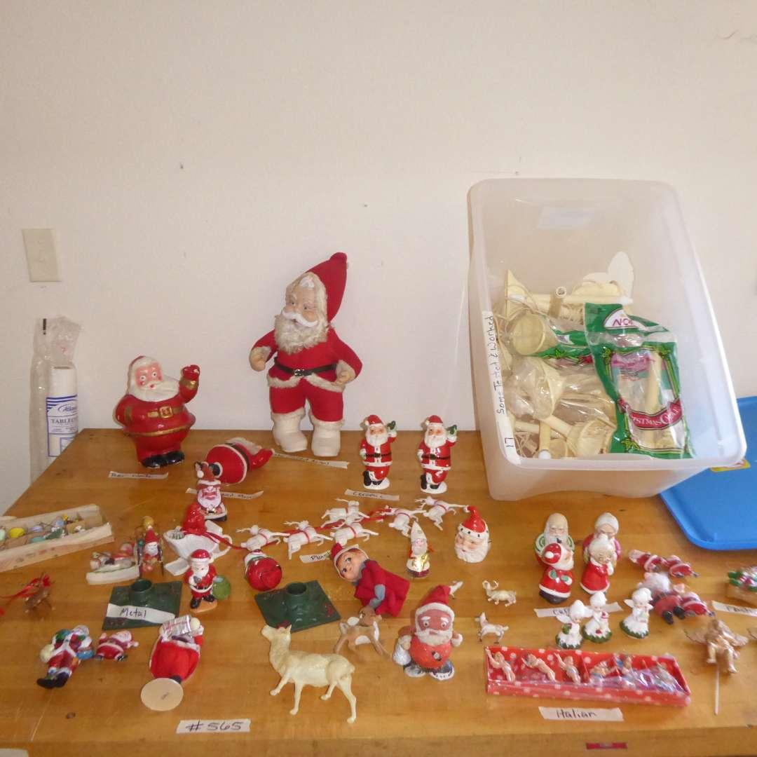 Lot # 565  - Lot Of Vintage Christmas Ornaments & Decor  (main image)