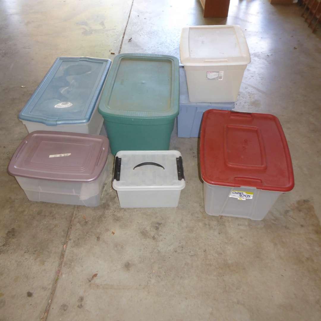 Lot # 570  - Lidded Plastic Tubs  (main image)