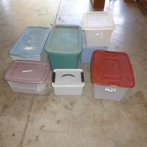 Lot # 570  - Lidded Plastic Tubs