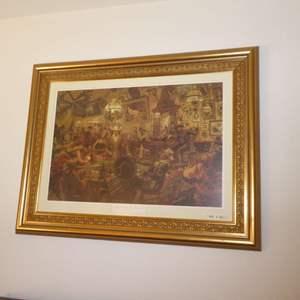 """Lot # 76 - Arnold Friberg """"Mind If I join You Gentlemen"""" Framed Print"""