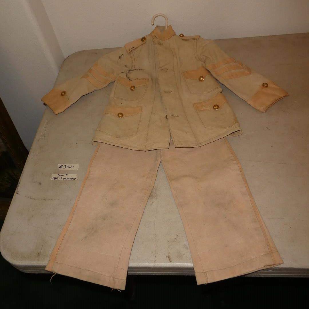 Lot # 330 - Antique Original WWI Child Military Uniform (main image)