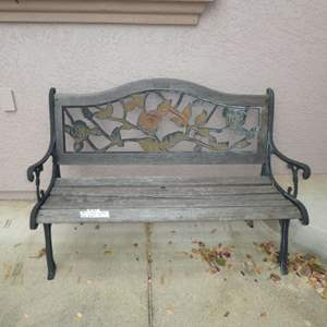 Lot # 402 - Berkley and Forge Cast Iron and Wood Garden Bench