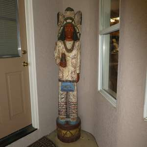 Lot # 405 - Antique Cigar Store Wooden Indian