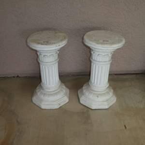 Lot # 408 - Two Cement Plant Stand Pedestals (Architectural Columns)