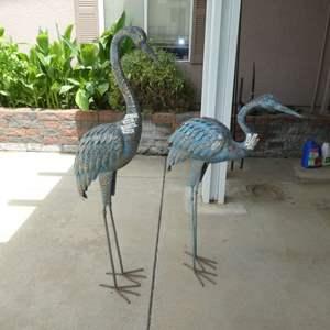 Lot # 415 - Two Metal Herons (Yard Art)
