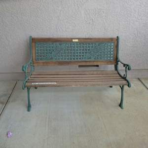 Lot # 418 - Parkland Heritage Cast Iron and Wood Garden Bench