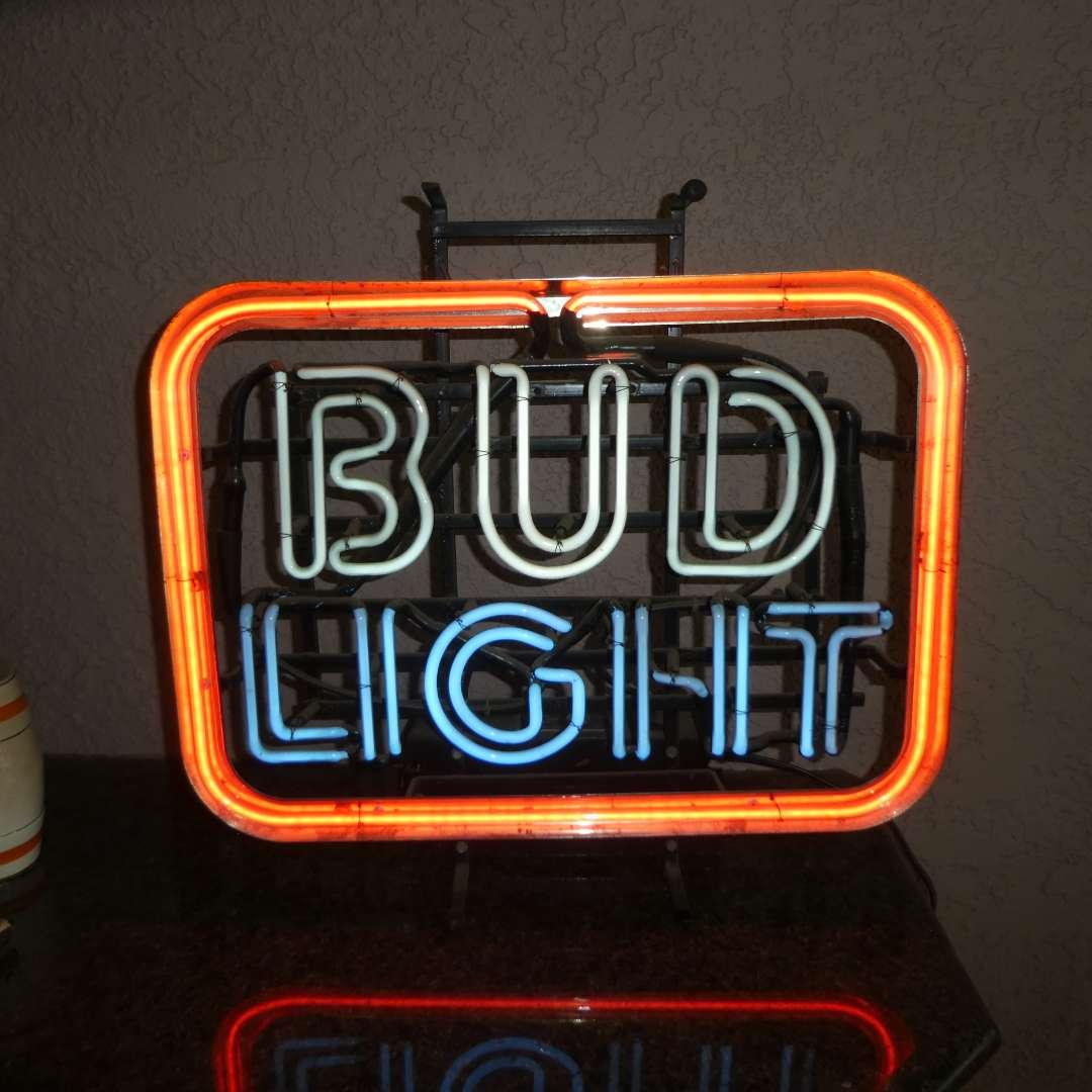 Lot # 419 - Bud Light Neon Sign (main image)