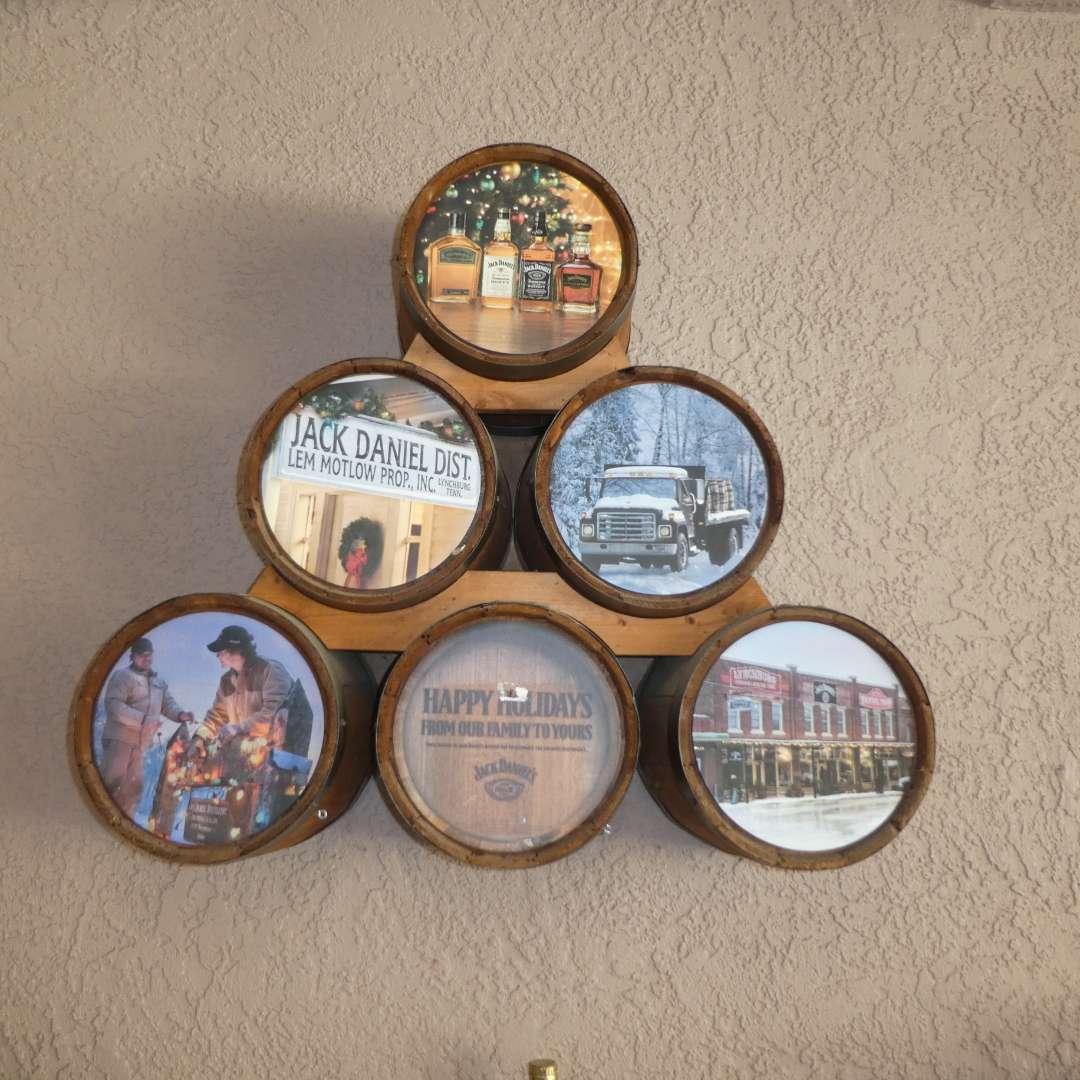 Lot # 420 - Wall Mounted Jack Daniel's Advertising Barrels  (main image)