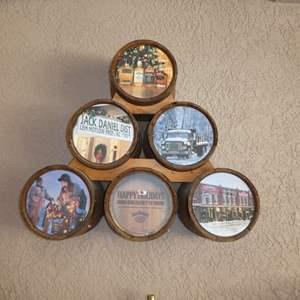 Lot # 420 - Wall Mounted Jack Daniel's Advertising Barrels