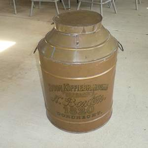 Lot # 423 - Large Vintage Coffee Canister