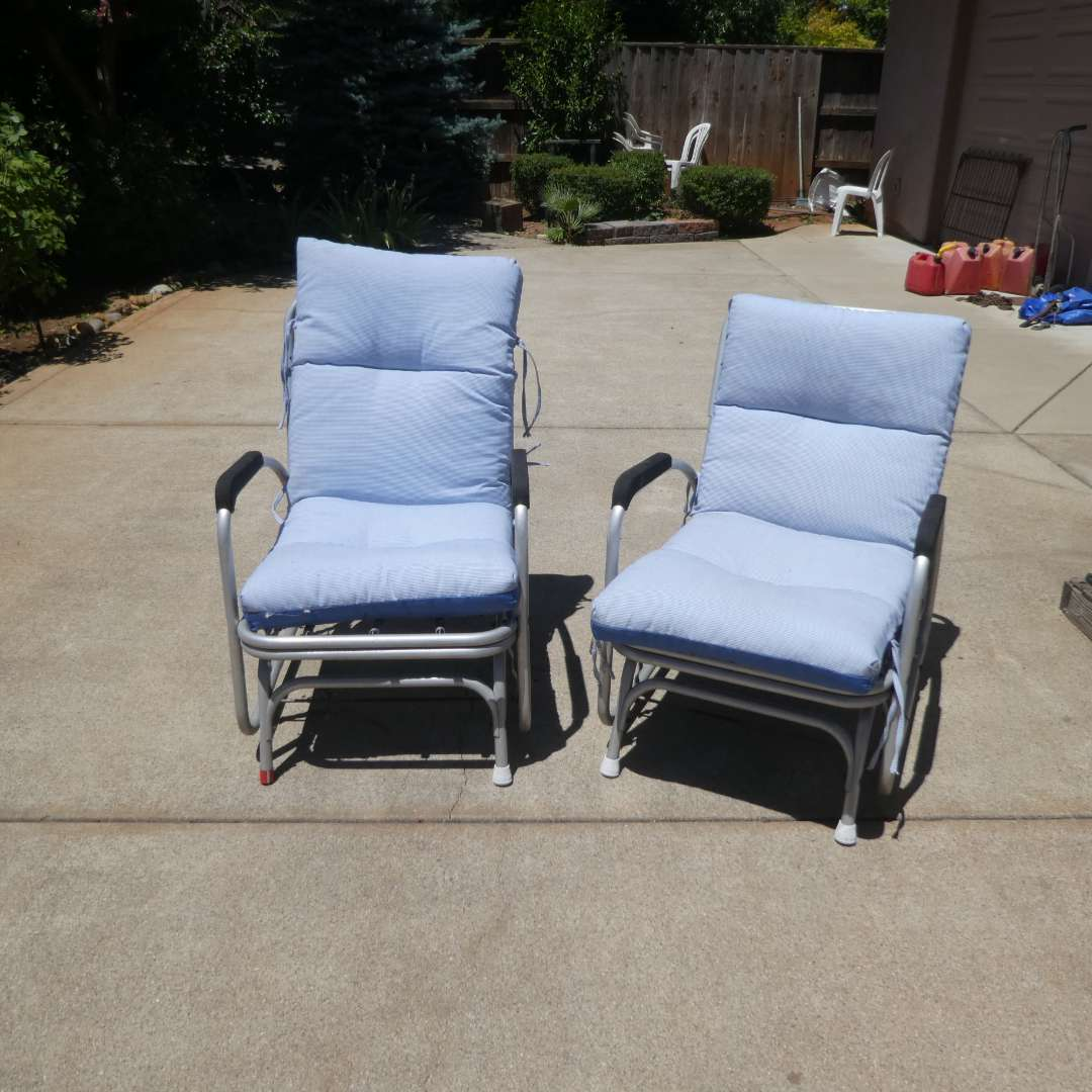 Lot # 434 - Vintage Outdoor Gliders Chairs  (main image)