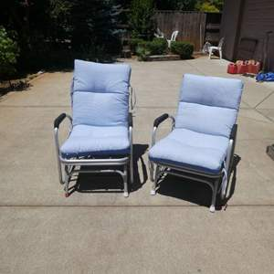 Lot # 434 - Vintage Outdoor Gliders Chairs