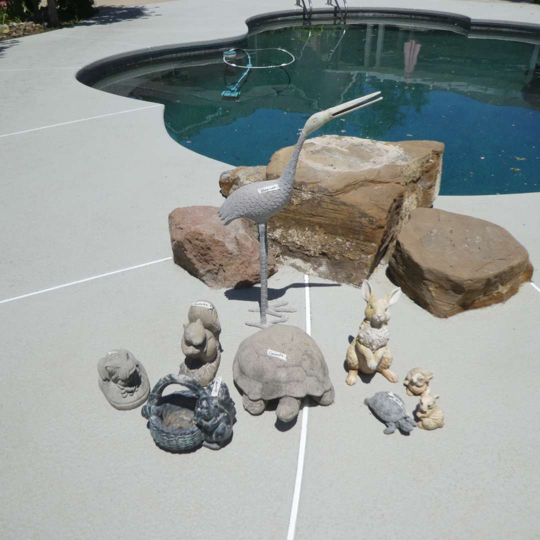 Lot # 435 - Variety of Garden Statues (Rocks not Included) (main image)