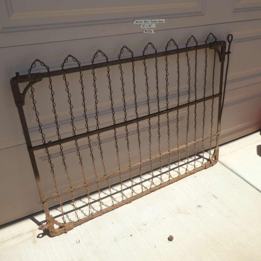 Lot # 436 - Antique Metal Garden Gate (main image)