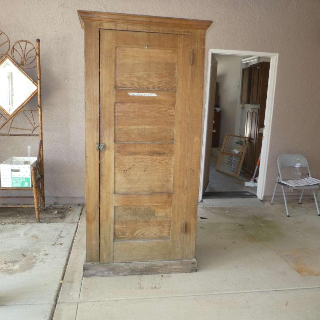 Lot # 438 - Vintage Solid Wood Storage Cabinet (main image)