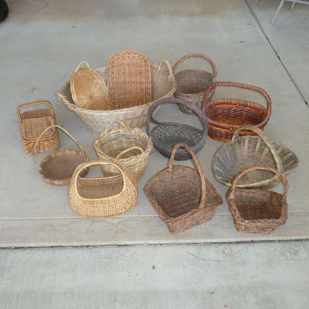 Lot # 447 - Assorted Wicker Baskets