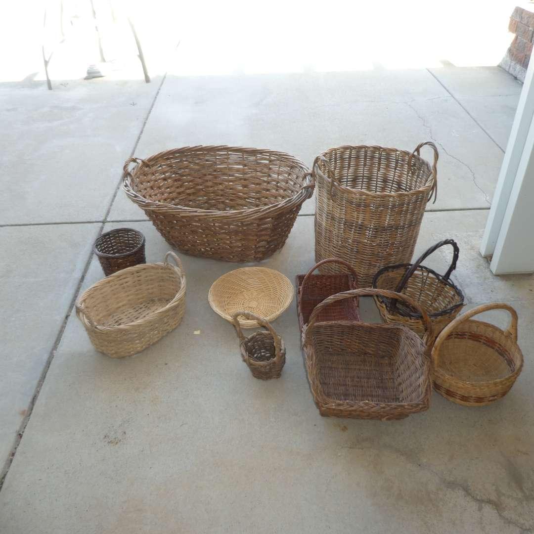 Lot # 448 - Assorted Wicker Baskets (main image)
