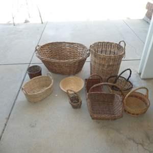 Lot # 448 - Assorted Wicker Baskets