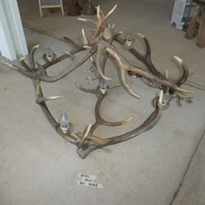 Lot # 449 - Large Antler Chandelier (Resin)