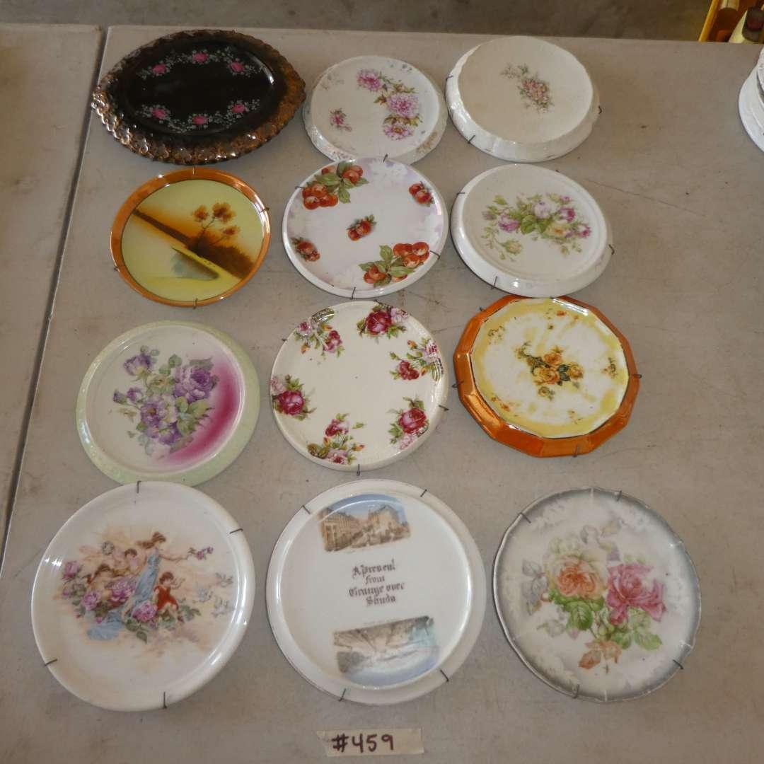 Lot # 459 - 12 Porcelain Decorative/Collectible Trivets   (main image)