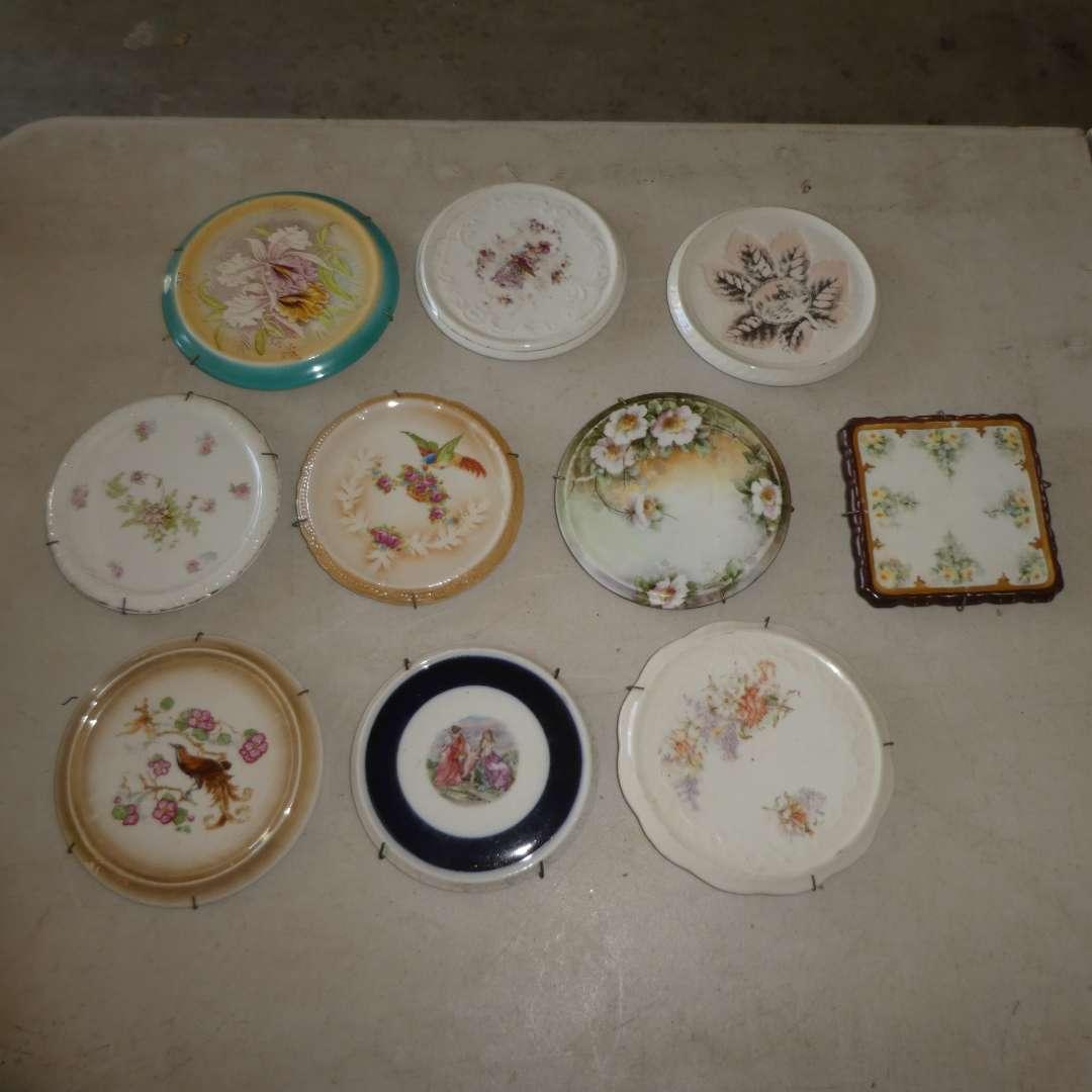 Lot # 460 - 10 Porcelain Decorative/Collectible Trivets   (main image)