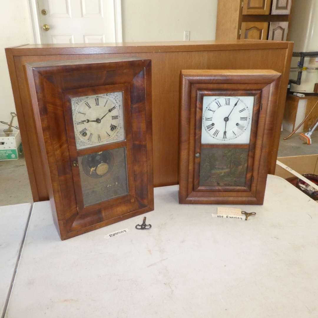 Lot # 471 -  Two Antique Mantel Clocks (Seth Thomas and  E. Ingraham Co. Bristol, Conn. Clock)(See Photos For Details) (main image)