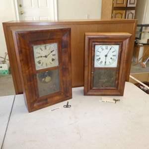 Lot # 471 -  Two Antique Mantel Clocks (Seth Thomas and  E. Ingraham Co. Bristol, Conn. Clock)(See Photos For Details)