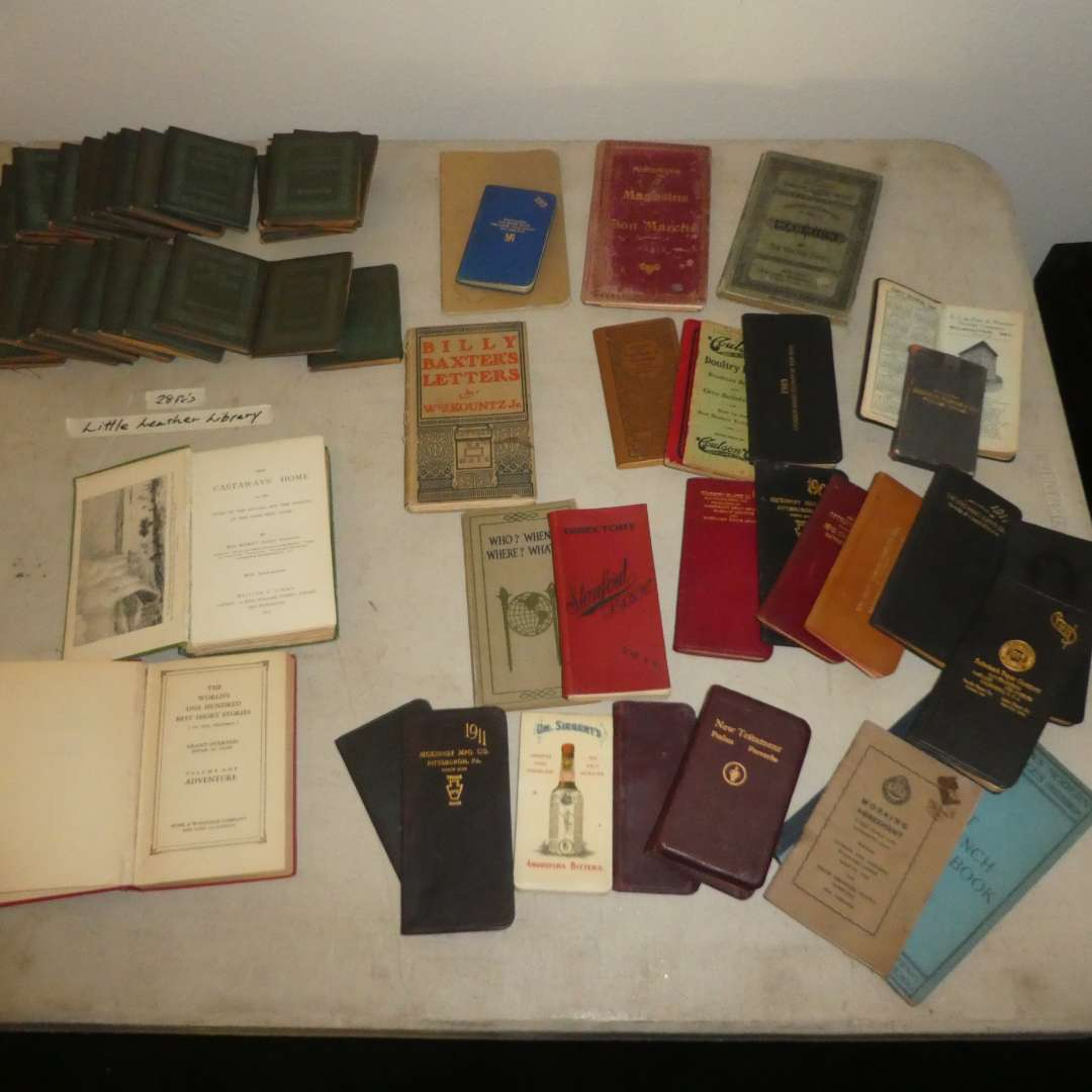 Lot # 198 - 28 Little Leather Library Books (Redcroft Edition) and a Variety of Vintage Books/ Booklets (main image)