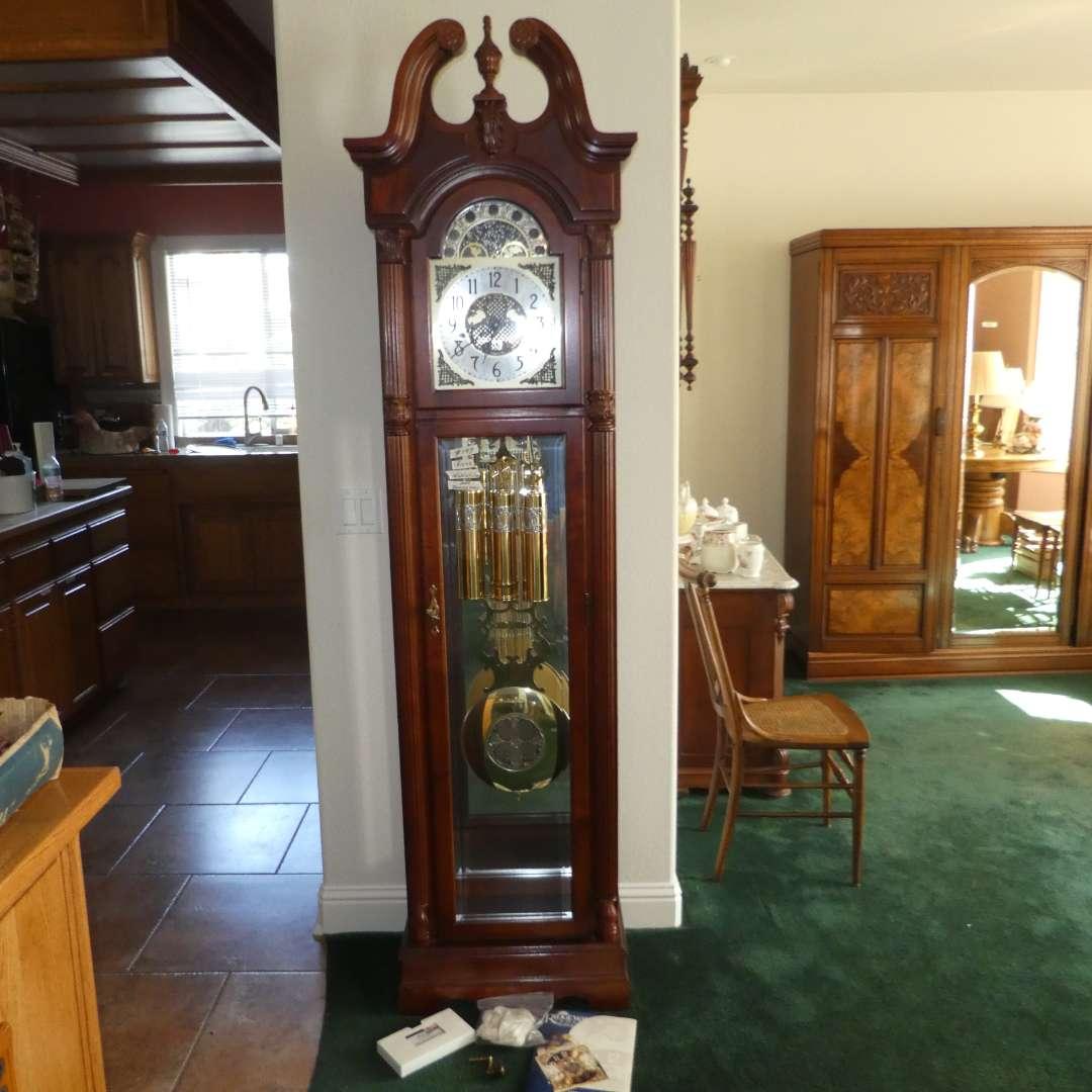 Lot # 199 - Beautiful Ridgeway Grandfather Clock (main image)