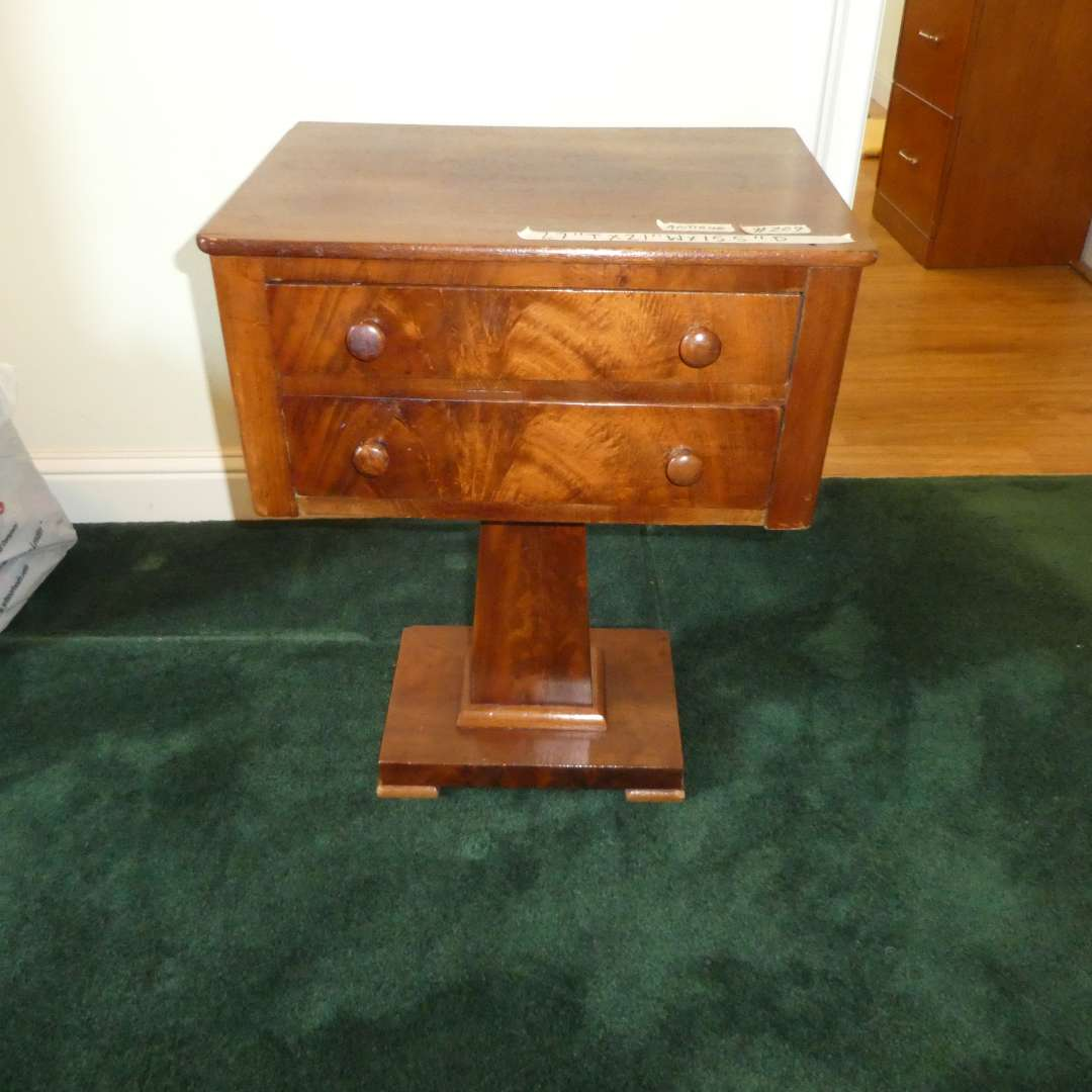 Lot # 209 - Cute Antique Side Table (Dovetail Drawers) (main image)