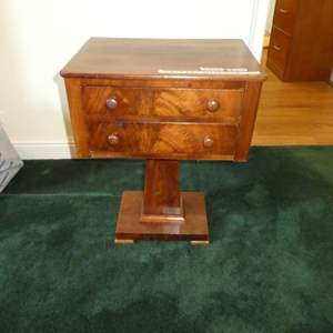 Lot # 209 - Cute Antique Side Table (Dovetail Drawers)